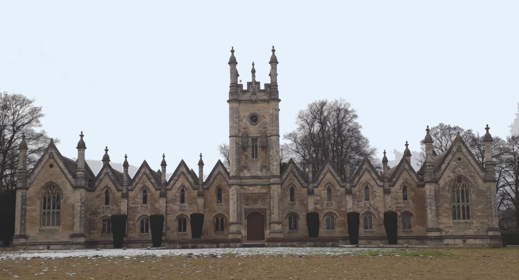 Fig 50 Aberford Almhouses. Built of local dolomitic limestone.